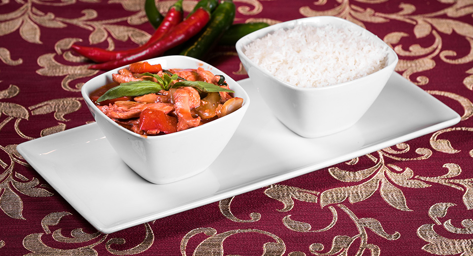 84. THAI CHICKEN CHILLI BASIL **